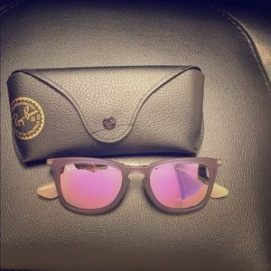 Ray-ban purple polarized and purple frames
